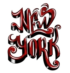 Conceptual handwritten phrase new york city on a vector