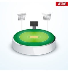 Concept of miniature round tabletop cricket vector