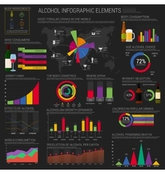 Alcohol infographic elements template or layout vector