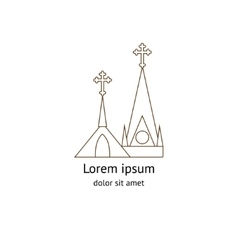 Template logo church vector