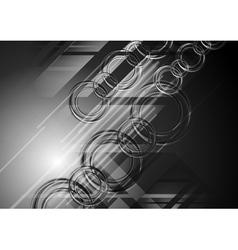 Abstract dark hi-tech background vector image vector image