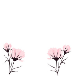 Background with pastel flower vector