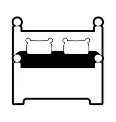 Bed frontview icon image vector