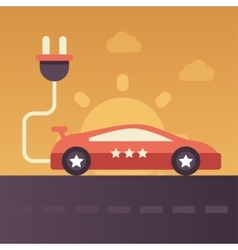 Electric vehicle - flat design single icon vector