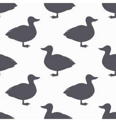 Farm bird silhouette seamless pattern duck meat vector