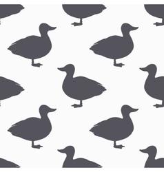 Farm bird silhouette seamless pattern duck meat vector