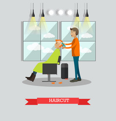 Haircut concept in flat style vector