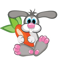 happy rabbit vector image vector image