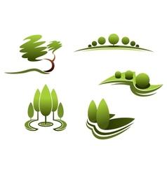 Landscape design elements vector image vector image