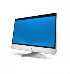 LCD monitor illustration vector image