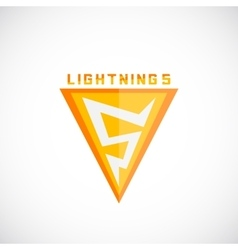 Lightning symbol as a five numeral abstract vector