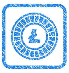 Litecoin roulette framed grunge icon vector
