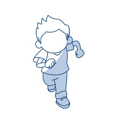 Little cute boy cartoon adorable image vector