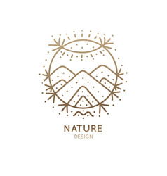 Logo sacred nature vector