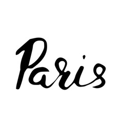 Paris hand lettering isolated on white background vector