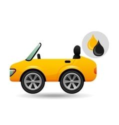 sport car drop oil gasoline vector image