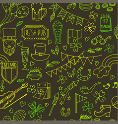 Stpatrick s day seamless pattern of the vector