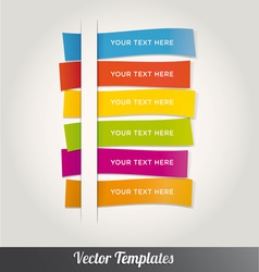 Template Design Colorful vector image vector image