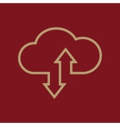 The download and upload to cloud icon vector