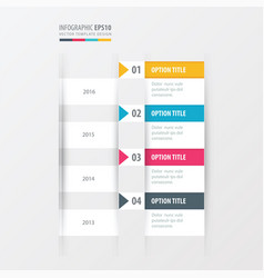 timeline yellow blue pink color vector image vector image