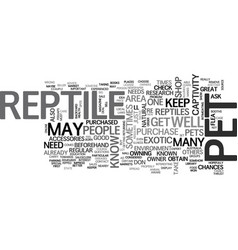 Where to buy a reptile to keep as a pet text word vector