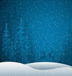 Winter scene vector image