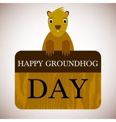 with groundhog day background vector image