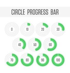 Green circle progress bar vector