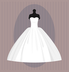 Wedding bride dress elegance style celebration vector