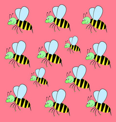 Pattern bee vector