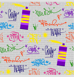 Graffiti street art wall grunge color font vector