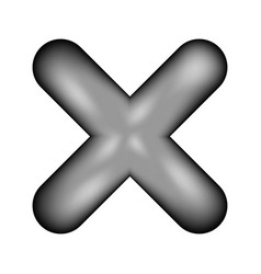Delete sign icon vector