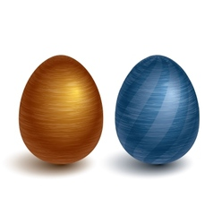 Metal eggs vector