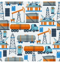 Industrial seamless pattern with oil and petrol vector