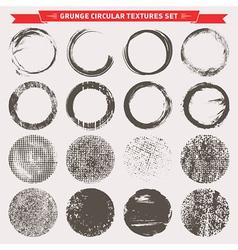 Grunge Circular Textures vector image