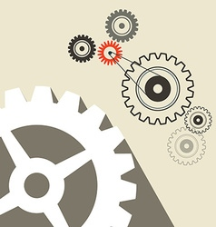 Cogs - gears retro technology background vector
