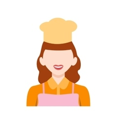 Chef female vector