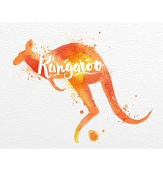 Painted animals kangaroo vector