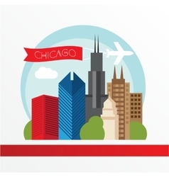 Chicago detailed silhouette trendy vector