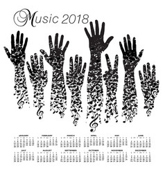 A creative 2018 musical calendar vector