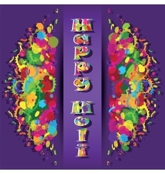 Abstract for Happy Holi colorful background vector image