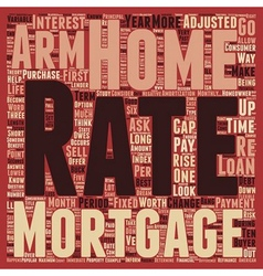 Are Adjustable Rate Mortgages Worth It text vector image vector image