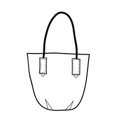 bag fashion accessory black and white vector image vector image