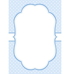 Blue Polka Dot Invitation Template vector image