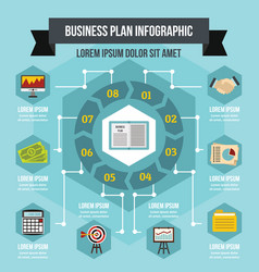 business infographic concept flat style vector image