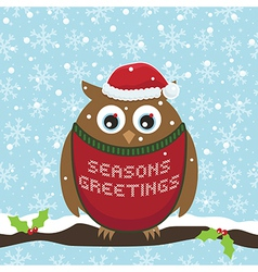 Christmas owl vector