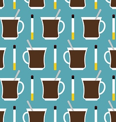 Coffee cup and cigarettes seamless pattern Best of vector image vector image