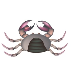 Field crab isolated on a white background vector