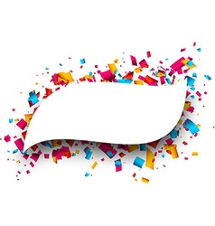 Figured background with confetti vector