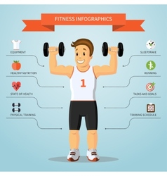 Fitness infographics concept vector image vector image
